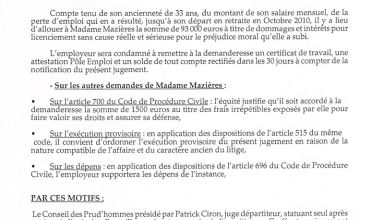 Condmnations 93 000  euros DUCOURAU